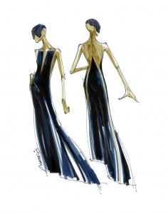 Halston- Sketch for Star Wars Force 4 Fashion