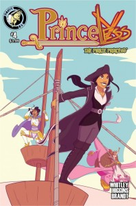 Princess the Pirate Princess Issue 4 cover, writer Jeremy Whiteley, artists Rosy Higgins and Ted Brandt, Action Lab 2015