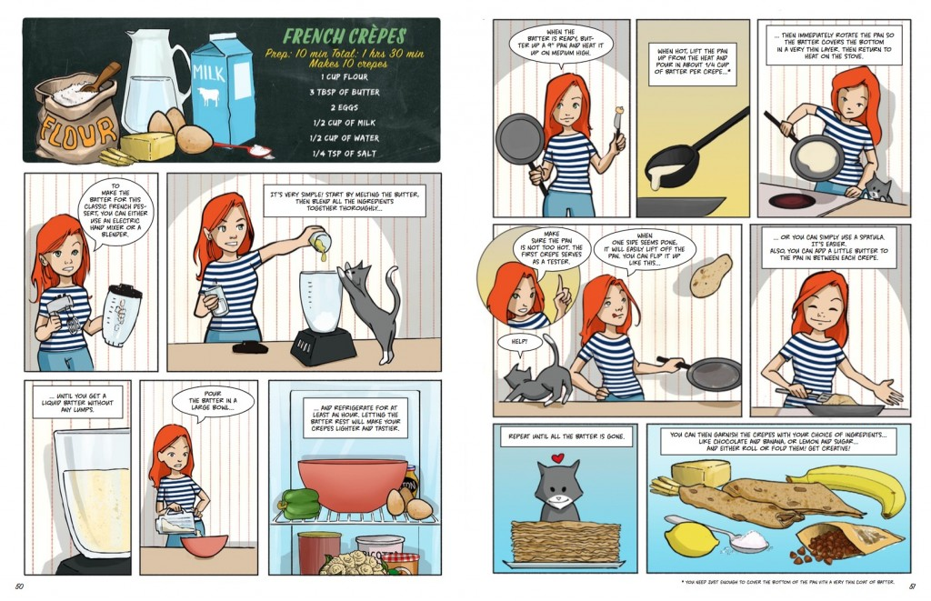 The Art of Cooking with Michelle, Chloe, and Mia: A Comic Cookbook, Liz Brizzi, 2015 used with permission from the author