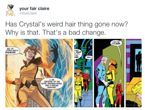 tweet, illusclaire, Inhumans Crystal