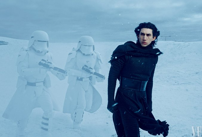 Star Wars Adam Driver as Kylo Ren via Vanity Fair publicity shoot