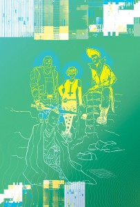 The Tomorrows 1 cover, writer curt pires, interior artist jason copeland, cover artist dylan todd, 2015