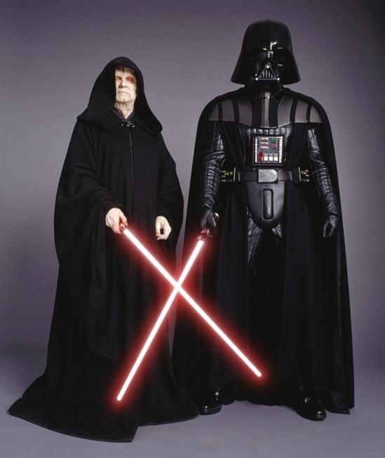 Star Wars Vader and Emperor Wax Figures
