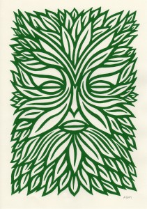 """Green Man"" by Alan Rogerson"