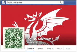 Screenshot of the English Advocates Facebook page.