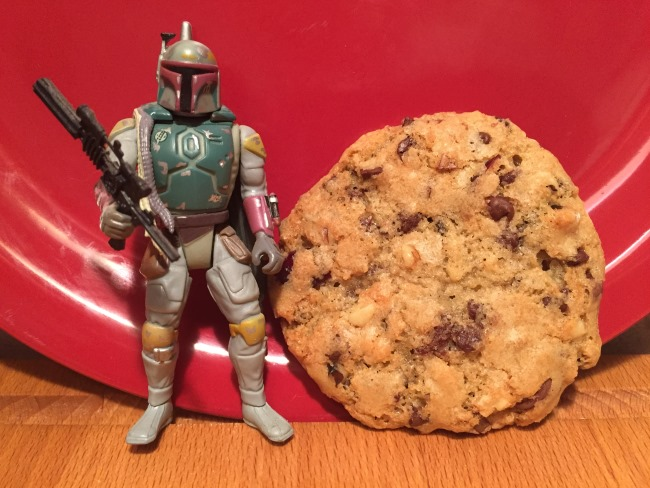 cookie with Boba Fett for scale