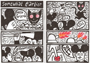 """Excerpt from Alan Rogerson's comic strip """"The Thing About Fear"""""""