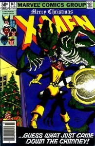 Uncanny X-Men, #143, cover by Terry Austin & Rick Parker, written by Chris Claremont & John Byrne, Marvel 1981, Christmas, Holiday