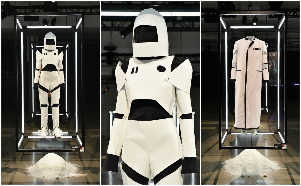 """Star Wars """"Force 4 Fashion"""" Opening Ceremony and Ovadia & Sons designs at the Skylight Modern in NYC, photographed by Larry Busacca/Getty Images via Quartz."""