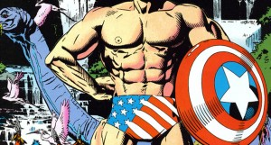 Captain America swimsuit edition, uncredited Marvel Artist, 1992