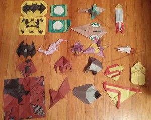 DC Super Hero Origami Attempt. 2015. Taken by Ardo Omer.