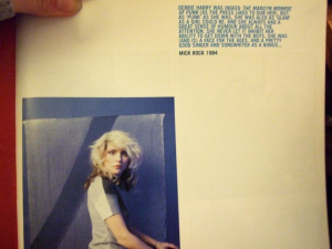 Mick Rock, Blood and Glitter: Debbie Harry
