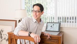 Gene Luen Yang, image taken by Aaron Wojack for the New York Times