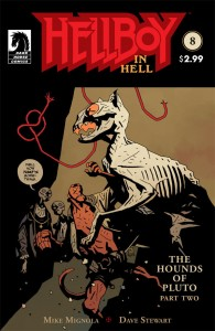 Hellboy in Hell Issue 8 cover, cartoonist Mike Mignola, colorist Dave Stewart, Dark Horse, 2015