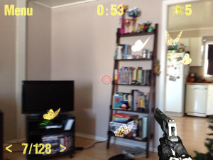 Bugs Mayhem Augmented Reality Shooter, AR23D Shooter, 2012