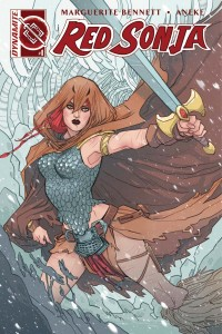 Red Sonja Vol 3, issue 1, Marguerite Sauvage cover, Dynamite 2016