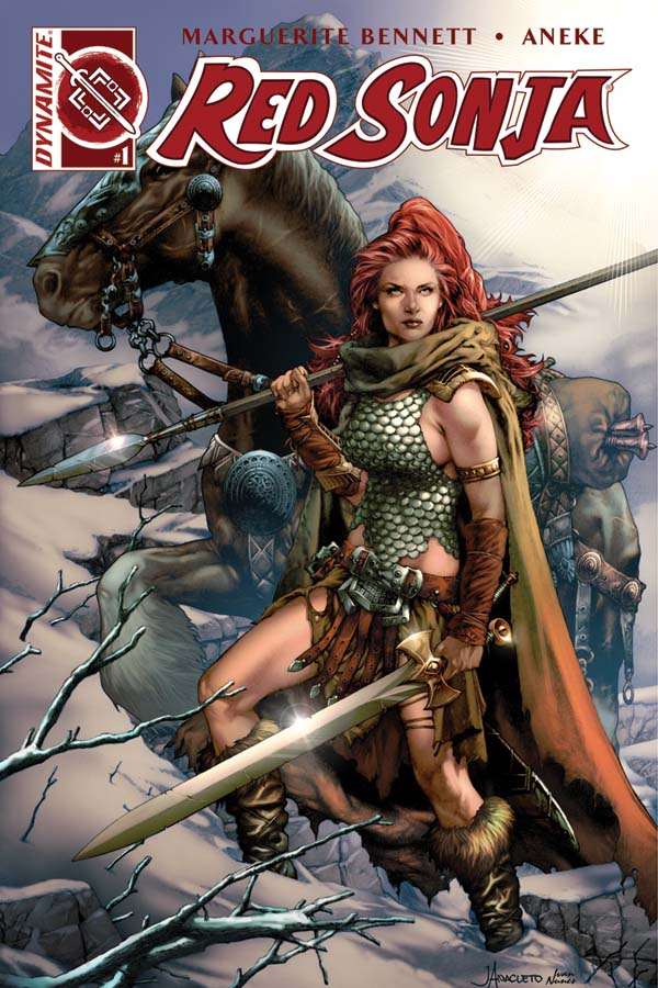 Red Sonja Vol 3, issue 1, Jay Anacleto cover, Dynamite 2016