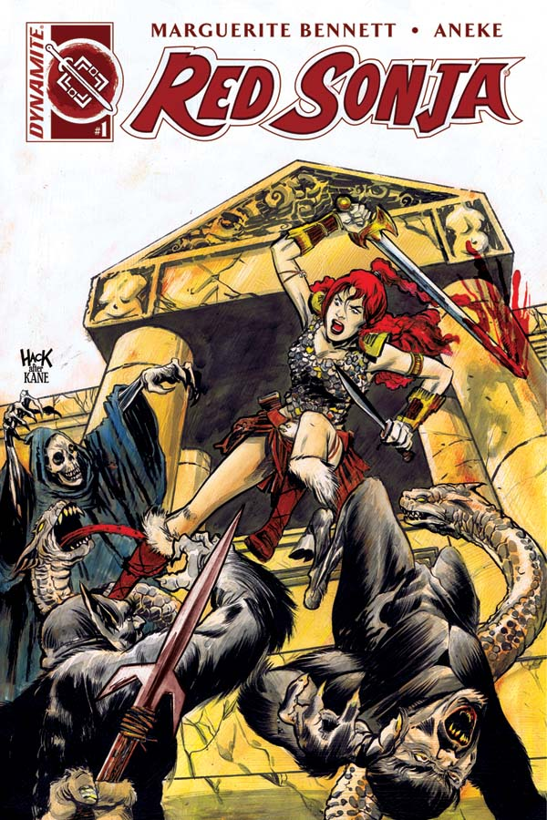 Red Sonja Vol 3, issue 1, Robert Hack cover, Dynamite 2016