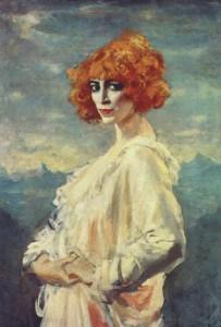 Portrait of Luisa Casati by Augustus John, 1919