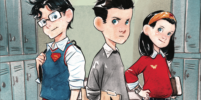 Secret hero society: study hall of justice by Dustin Nguyen and Derek Fridolfs. Cover by Dustin Nguyen. Banner.