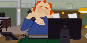 """Screencap from """"Tweek X Craig"""" (""""Oh, God"""") / South Park, season 19, episode 6 / episode first aired 10/28/15 on Comedy Central / episode written and directed by Trey Parker"""