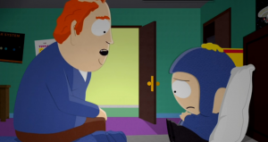 """Screencap from """"Tweek X Craig"""" (""""I like gay Craig"""") / South Park, season 19, episode 6 / episode first aired 10/28/15 on Comedy Central / episode written and directed by Trey Parker"""