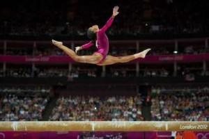 Gabby Douglas, Olympics 2012, all around finals, photo credit of David Eulitt/Kansas City Star