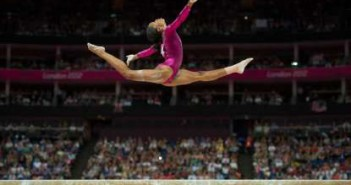 Gabby Douglas, Olympics 2012, all around finals, photo credit of David Eulitt/Kansas City Star