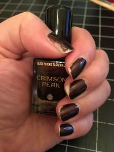 Crimson Peak nail polish Sarah Richardson 2016