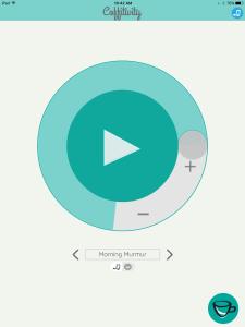 Coffitivity iOS app for iPad screenshot by Ginnis Tonik