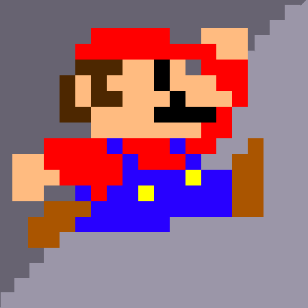 Fig 19 Super Mario is aliased. Nice sideburns!