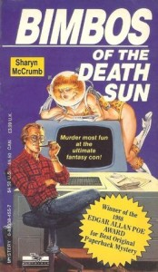 Bimbos of the Death Sun book cover. Image from goodreads.com.