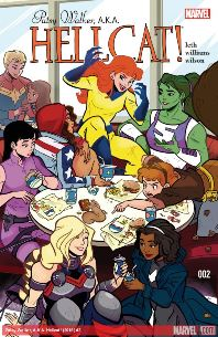 Hellcat #2 cover. Kate Leth (writer), Brittany Williams (artist). Marvel Comics, 2015