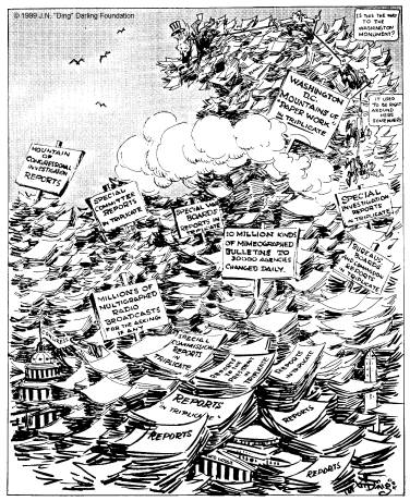 """""""What a Place for a Waste Paper Salvage Campaign"""" by J.N. Darling, 1942 (Des Moines Register and Tribune) [via University of Iowa Special Collections]"""