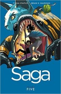 Saga, vol. 5 by Brian K Vaughan & Fiona Staples, Image Comics (2015)