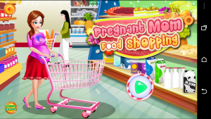 Pregnant Mom Food Shopping, created by bxapps Studio