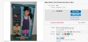 BSC Claudia Doll in Box Ebay Screenshot by Ginnis Tonik