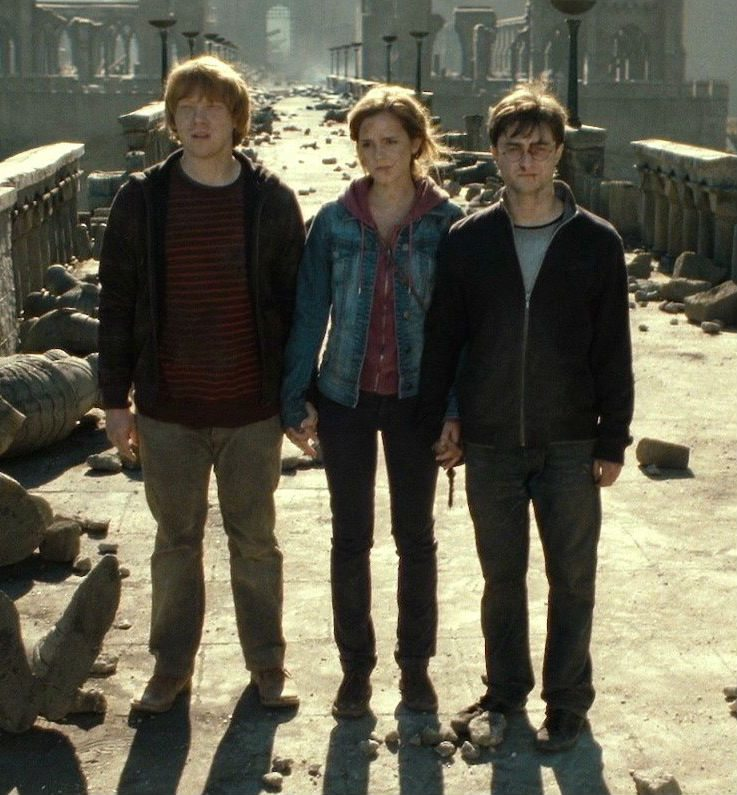 Are the trio less of a trio simply because two of its number end up together romantically?