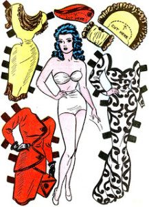 Miss Fury paper dolls by June Tarpe Mills, courtesy of the Quality Companion blog