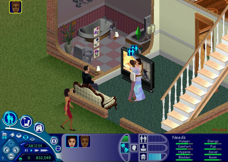 The Sims became more of a makeout simulator than a life simulator, with little bits of soap-opera level storytelling between kissing sessions.
