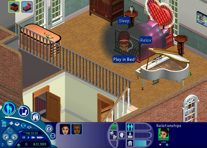 I probably should have known what was going to happen given that sims get into bed naked, but the ability to 'Play in Bed' was still something of a shock.