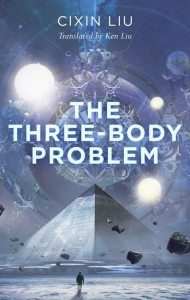 Cover of The Three-Body Problem by Cixin Liu, US edition; published by Tor Books.
