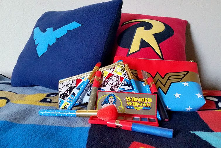 Walgreen's Wonder Woman collection plus my Robin & Nightwing pillows