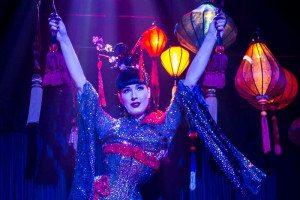 Dita Von Teese performing her Opium Den show during Burlesque: Strip, Strip, Hooray!