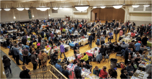 The exhibition floor. Image courtesy Chicago Zine Fest.