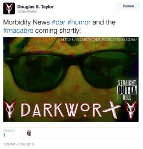 Tweet by DarcWorX Entertainment.
