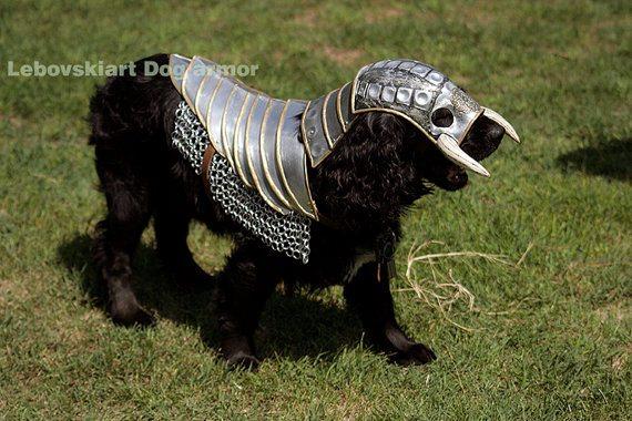 Dog armor from Lebowskiart