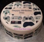 Computer game console controllers cake top