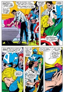 Captain America #124, written by Stan Lee, pencilled by Gene Colan, inked by Joe Sinnott , lettered by Sam Rosen