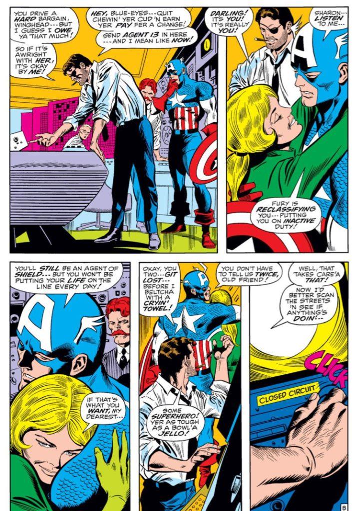 Captain America #124, written by Stan Lee, pencilled by Gene Colan, inked by Joe Sinnott , lettered by Sam Rosen